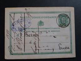 Belgique  Oblitération Dinant Sur EP N°8 - AK [1871-09]