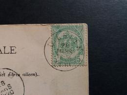 """Belgique  Oblitération Dilbeek Sur CP Vue Bruxelles """" Palais Des Beaux-arts """" - AK [1871-09]"""