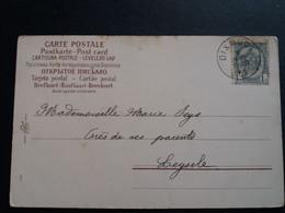 """Belgique  Oblitération Dixmude Sur CP Fantaisie """" Fleurs """" - AK [1871-09]"""