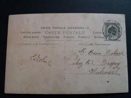 """Belgique  Oblitération Doische Sur CP Fantaisie """" Femme Avec Fleurs """" - AK [1871-09]"""