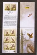 Lithuania 2014 Owls (Tyto Alba), (Glaucidium Passerinum).  Mi 1156-57 Booklet - Owls