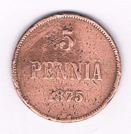 5 PENNIA 1875 FINLAND /6243/ - Finlande