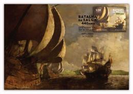 Portugal & Maximum Card, 440 Years Of Salga Battle, Terceira Island, Azores 1581-2021 (77763) - Other