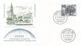 Deutsche Post FDC 1990 XXXXI. Intl. Kongress Der Astronautischen Föderation Dresden (G135-49) - FDC: Sobres