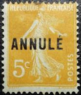 FRANCE Variété Anneau De Lune. Cours D'instruction N°158-CI 1. Neuf* - Corsi Di Istruzione