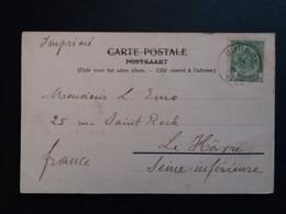 """Belgique  Oblitération Durbuy Sur CP Vue """" Chateau Des Comies De Vaux """" - AK [1871-09]"""