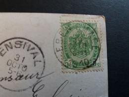 """Belgique  Oblitération Eben Emael Sur CP Fantaisie """" Couple Amoureux """" PLI - AK [1871-09]"""