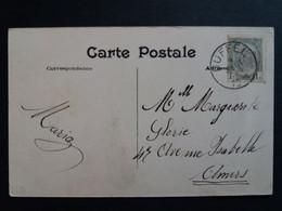 """Belgique  Oblitération Duffel Sur CP Vue Malines """" Eglise N.D. Hanswijck """" - AK [1871-09]"""