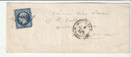 Lettre Avec Classiques De France:Napoléon N°14, P.C.1896 Marseille, Oblitération:Escadre De La Méditerranée, 1856 - 1853-1860 Napoleon III