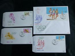 BELG.1988 2285 2286 2287 & BL64 FDC ( Brux-Brus ) : Jeux Olympiques 'été De Séoul 1988 - 1981-90