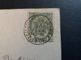 Belgique  Oblitération Ecaussines D Enghien Sur CP Fantaisie - AK [1871-09]