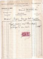 Dépt 77 - FAREMOUTIERS - Facture Quincaillerie Edmond TREFFÉ (place Du Marché) - 1938 - Timbre Fiscal - Faremoutiers