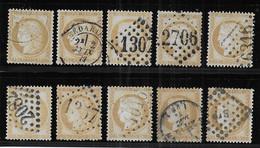 Cérès N° 55 X 10 Exemplaires 1er Choix - Cote : 50 € - 1871-1875 Ceres