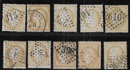 Cérès N° 59 X 10 Exemplaires 1er Choix - Cote : 80 € - 1871-1875 Ceres