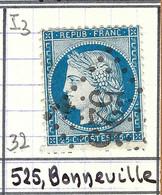 FRANCE Classique: Le Y&T 60Aa, Obl. GC 525 (Bonneville, Ind.3), HAUTE SAVOIE - 1871-1875 Ceres