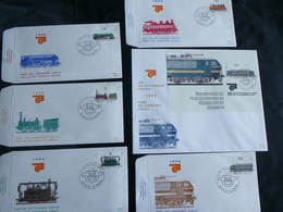 "BELG.1985 2170 2171 2172 2173 2174 &  BL61 FDC's (Bruxs) : "" Openbaar Vervoer / Transports  Publics "" - 1981-90"