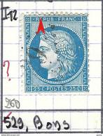 """FRANCE Classique: Le Y&T 60A, Obl. GC 529 (Bons, Ind.12), HAUTE SAVOIE, Cadre Brisé Côté N, """"feuille De Chêne"""" Derrière - 1871-1875 Ceres"""