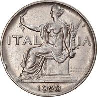Monnaie, Italie, Vittorio Emanuele III, Lira, 1922, Rome, TTB, Nickel, KM:62 - 1 Lira