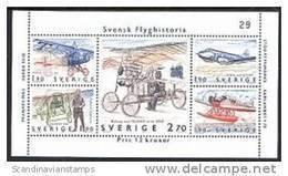 Zweden 1984  Blok Vliegtuigen PF-MNH - Ongebruikt