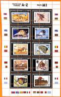 A7172 - TCHAD, Error, 2020, MISPERF MINIATURE SHEET: WWF, Birds, Butterflies, Fishes, Fauna - Nuevos
