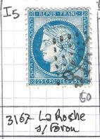 FRANCE Classique: Le Y&T 60C, Obl. GC 3167 (La Roche-s-Foron, Ind.5), HAUTE SAVOIE - 1871-1875 Ceres