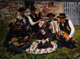 ►  CPSM   Auvergne  La Bourrée De Rochefort      1960   Accordéon Vielle - Music