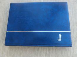 Briefmarken Album Gebraucht Mit 48 Weißen Seiten, 10 Streifen, Format Ca 23,5 X 30,5cm - Binders Only