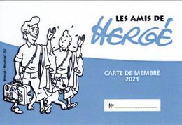 Les Amis De Hergé ADH Carte De Membre Numérotée 2021 Tintin Kuifje - Hergé