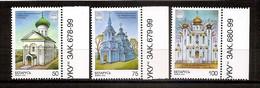 BELARUS 2000●Churches●2000th Anniversary Of Christianity●Mi 342-44 MNH - Bielorrusia