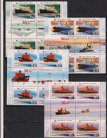 Russia 2009 50th Anniversary Of Nuclear Russian Navy. Mi 1552-55 4 Sets With Labels - Unused Stamps