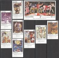 AA553 IMPERF,PERF GAMBIA ART CHAGALL #668-675 MICHEL 1SET+1BL MNH - Sonstige