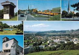 1 AK Schweiz * Bruggen Mit Tröckneturm, Einkaufszentrum, Evang. Kirche, Schwimmbad Lerchenfeld, Kath. Kirche - SG St. Gallen