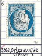 FRANCE Classique: Le Y&T 60Ca, Obl. GC 5052 (Orléansville, Ind.6), ALGERIE - 1871-1875 Ceres