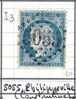 FRANCE Classique: Le Y&T 60Aa, Obl. GC 5055 (Philippeville, Ind.3), ALGERIE - 1871-1875 Ceres