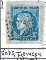 FRANCE Classique: Le Y&T 60A, Obl. GC 5075 (Tlemcen, Ind.6), ALGERIE - 1871-1875 Ceres