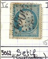 FRANCE Classique: Le Y&T 60A, Obl. GC 5062 (Sétif, Ind.6), ALGERIE - 1871-1875 Ceres