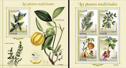 Centrafrica 2021, Medical Plants, 4val In BF +BF - Heilpflanzen
