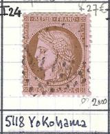 FRANCE Classique: Le Y&T 54, Obl. GC 5118 (Yokohama, Ind.24), BUREAUX  A  L'ETRANGER - 1871-1875 Ceres
