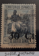 Guinea N252** Sin  ( Sobrecarga Desplazada - Guinea Española