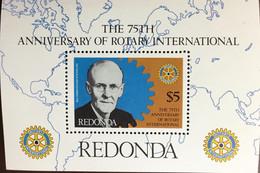 Antigua Redonda 1980 Rotary Minisheet MNH - Non Classificati
