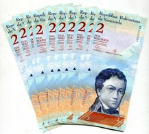 Venezuela 2 Bolivares 2013 P 88 UNC LOT 20 PCS - Venezuela
