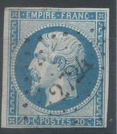 Lot N°62036    N°14A, Oblitéré PC 2724 Roquefort, Landes (39), Ind 6, Ni Pli, Ni Clair - 1853-1860 Napoléon III