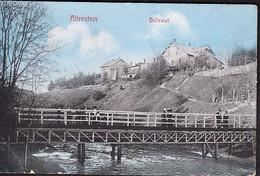 Germany Color Postcard Bellevue View ALLENSTEIN Now Olsztyn Poland Sent In 1913 - Polonia