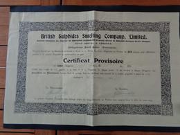FRANCE - 20 - PIETRAPOLA, OBLIGATIONS  DE 10 £ - FORÊT CORSES - BRITISH SULPHIDES SMELTING - LONDRES 1913 - Unclassified