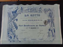 LA KOTTO - PART NENEFICIAIRE - PARIS 1907 - TRES BELLE ILLUSTRATION - Unclassified