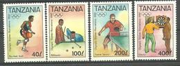 Tanzania 1992 Mi 1255-1258 MNH  (ZS4 TNZ1255-1258) - Verano 1992: Barcelona