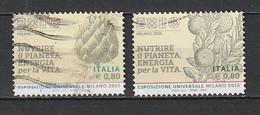 2015  EXPO ESPOSIZIONE 2 BOLLI USATO Da Foglietto - 2011-...: Used
