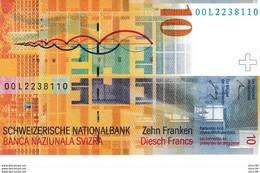 SWITZERLAND P.67a 10 Franken 2000 Unc - Switzerland
