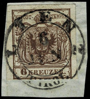 """(1850) """" LIENZ - TIROL """" 6 Kr. , Luxus! ,  A 5252 - Used Stamps"""