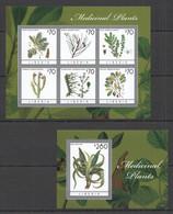 AA569 2013 LIBERIA FLORA MEDICINAL PLANTS #6253-58 MICHEL 20,5 EURO BL+KB MNH - Heilpflanzen